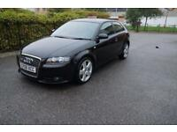 Audi A3 2.0T FSI Special Edition 2007MY T S Line Black Full Leather
