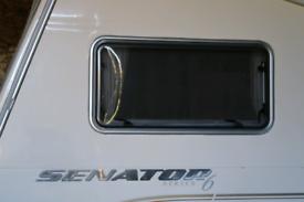Caravan front side window.