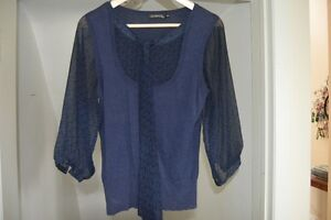 Womens Sheer blouse with attached vest