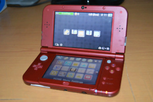 NEW 3DS XL, RED + Games