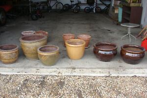 Assorted Glazed Flower Planters REDUCED!!!