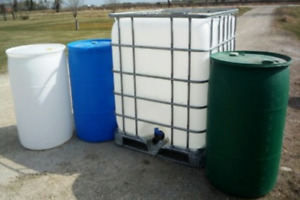 Rain barrel totes water storage containers & holding tanks