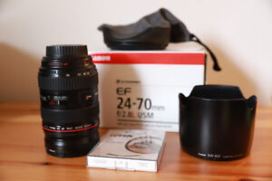 Canon 24-70L f2.8 USM Lens - Sharp and Fast!