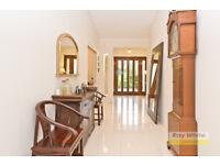 Large hardwood framed mirror suitable for large room or hall