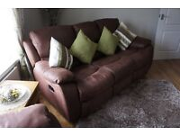 3 Seater Sofa and Chair, Recliners.