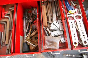 Tool box and assorted tools