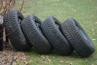 4 pneus hiver 215/55/r16,1 hiver pour Volvo C70,S60-80,V60-70