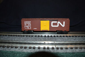 Lionel MTH Toy Trains CN Box Car w Yellow Door
