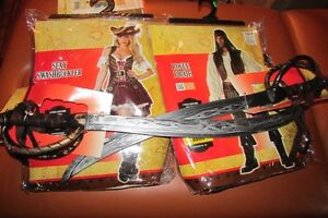 2 adult PIRATE costumes male & female BRAND NEW
