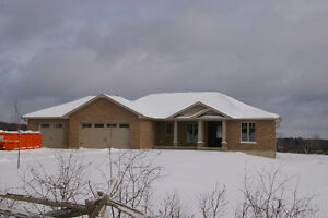Newly built country home for sale, west of Warsaw, Ontario