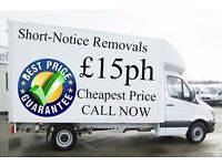 Friendly £15ph Man with Van Hire Professional Removals Services Call Now