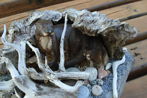 3-D Hand Crafted Table Sculpture - Otters Along Rivers Edge Kingston Kingston Area image 2