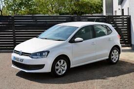 2010 VW POLO 1.2 SE 5DR CANDY WHITE FSH LOW RATE FINANCE (GOLF FIESTA MINI)