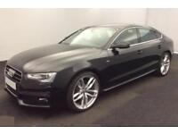2015 BLACK AUDI A5 SPORTBACK 2.0 TDI S LINE DIESEL AUTO CAR FINANCE FR £62 PW
