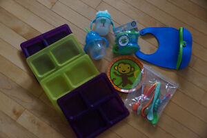 Sippys/Plates/Spoons/Teethers/Snack Catchers, Some Brand New