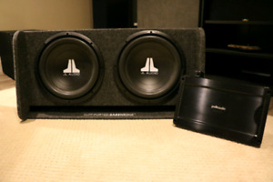 """JL Audio Dual 12"""" Subwoofers with Polk Audio PA 880 Amplifier"""