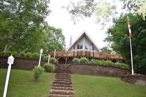 Waterfront Executive Home:  Jeffrey Olmstead Lake