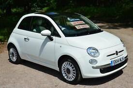 2014 FIAT 500 1.2 Lounge 3dr [Start Stop] 17,000 MILES ONE OWNER
