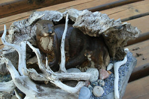 3-D Hand Crafted Table Sculpture - Otters Along Rivers Edge Peterborough Peterborough Area image 2