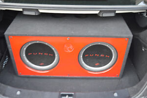 """**Rockford Fosgate amp with 2 12"""" Subwoofer**"""