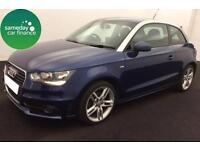 FROM £185.93 PER MONTH BLUE 2011 AUDI A1 1.6 TDI S LINE 3 DOOR DIESEL MANUAL