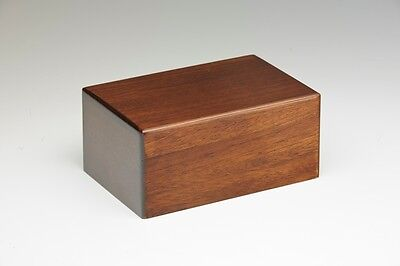 Wooden Cremation Urn - 2nds - Bargain! - Extra Small Size - Walnut Color