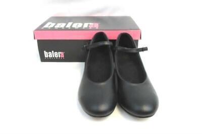 Balera Black Character Shoes Mary Jane 1.5 In Heel Buckle Strap Women
