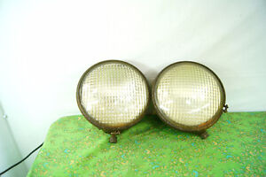 Vintage Tractor Lights - Rustic Farm Goods - Pair of Rusty Tract