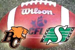 2 tickets Roughriders vs. BC Lions Oct 29