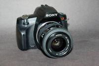 Sony A230 DSLR with 2 Minolta lenses.