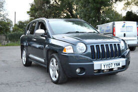2007 07 JEEP COMPASS 2.0 CRD LIMITED STARTECH 180bhp 4WD TURBO DIESEL PX SWAP