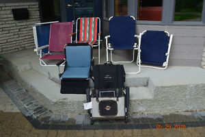 Various outdoor chairs
