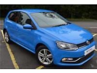 2016 Volkswagen Polo Match 1.2 TSI 90PS 5-speed Manual 5 Door Petrol blue Manual