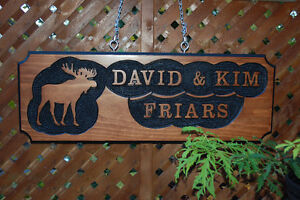 SIGNS WOOD ROUTED HAND CARVED CUSTOM St. John's Newfoundland image 2