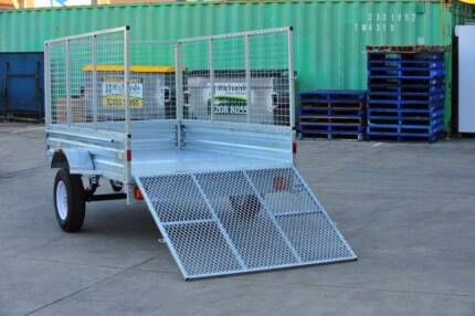 8x5 box trailer with 900mm cage and 1200mm tail fold up ramp $1,7 Gatton Lockyer Valley Preview