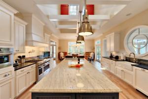 Get your countertops/vanities done- Kitchen & Bathroom Reno
