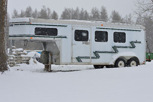 Belore Aluminum 3+1 Horse Slant Load Trailer GooseNeck