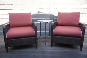 Super-comfy patio chairs -- gently used for just one summer!