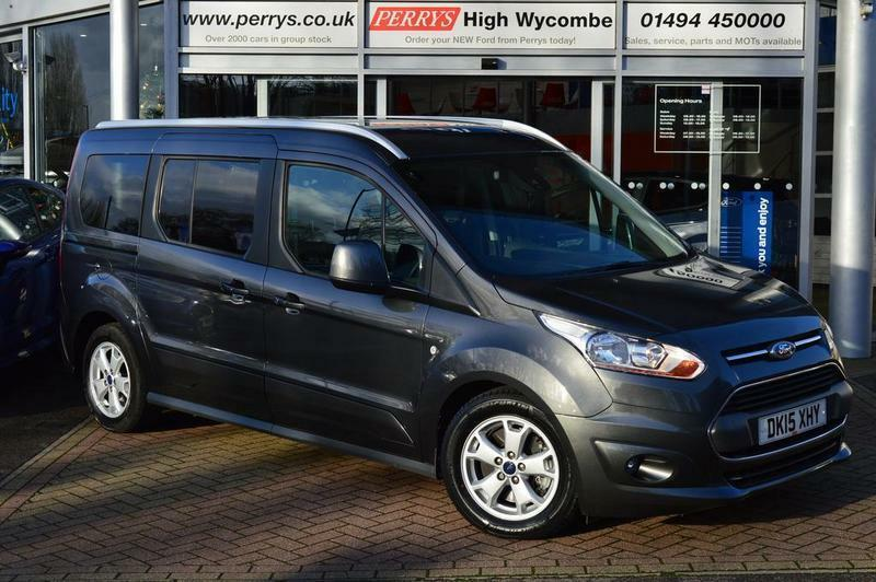 ford grand tourneo connect 1 6 tdci 115 titanium 5 door full service history grey 2015 in. Black Bedroom Furniture Sets. Home Design Ideas