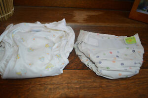 2 Kushies Cloth Diapers - one size large and one size medium