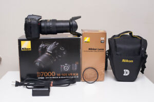 Nikon D7000 with Lens 18-105mm f/3.5-5.6G VRII and accessories