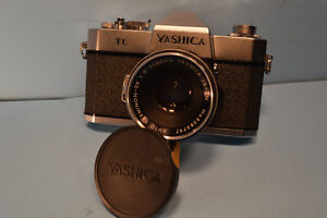 CAMERA VINTAGE YASHICA  TL EXC.COND. W-LENTILLE     50MM 1.2