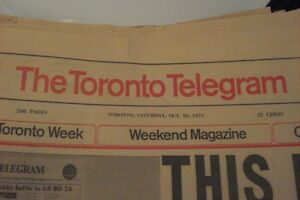 the toronto telegram very last edition