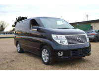 FRESH IMPORT LATE 2004 FACE LIFT NISSAN ELGRAND 4WD V6 AUTOMATIC BLACK