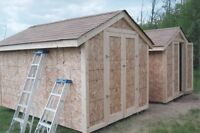 Garden and storage sheds.