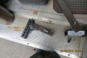 adjustable 6 in drop trailer hitch reciever
