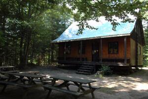 chalet et camping rustique