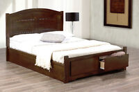 Wooden Storage Platform Bed frame & Serta Queen Mattress Combo!