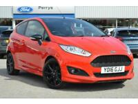 2016 FORD FIESTA 1.0 EcoBoost 140 Zetec S Red 3dr