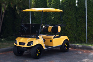 Yellow 2010 Club Car DS - RSC Custom Golf Carts